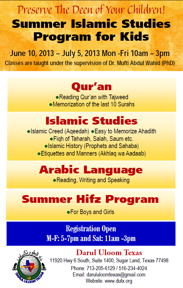 Summer 2013 Classes